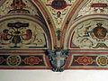 Palazzo di san clemente, int., piano terra, sala grottesche 04 stemma guadagni.JPG
