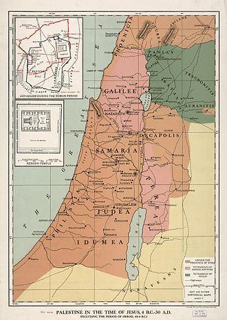 Perea - Image: Palestine in the time of Jesus