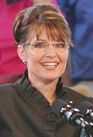 GOP Vice-Presidential nominee Sarah Palin givi...