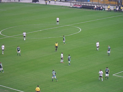 93bf3b8a68 Equipes do Palmeiras e do Corinthians em partida do Campeonato Brasileiro  de 2010 no Estádio do