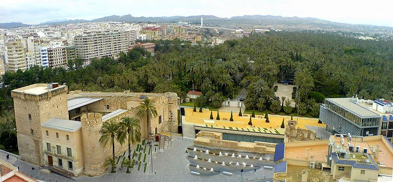 Elche Spain  city images : Panoramic view of Elche from the Basílica de Santa María: the ...