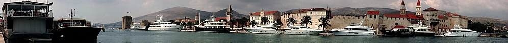 Waterfront panorama yachts at Trogir