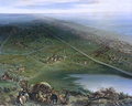 Panoramic view on the Battle of Dunes in 1658.PNG