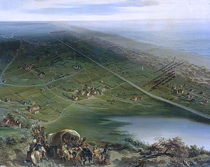 Battle of the Dunes (1658) - View of the Battle of Dunes from behind the Spanish lines Oil painting by Siméon Fort