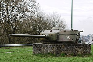 76 mm gun M1 - A T23 turret used on 76 mm gunned Shermans, here without the muzzle brake