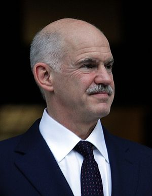 George Papandreou - Image: Papandreou handover cropped