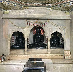 Golapurva - Paporaji idols of Lord Adinath belonging to 1145(VS 1202) in the underground chamber installed by families of Sahu Galle and Sahu Tuda of Golapurva anvaya