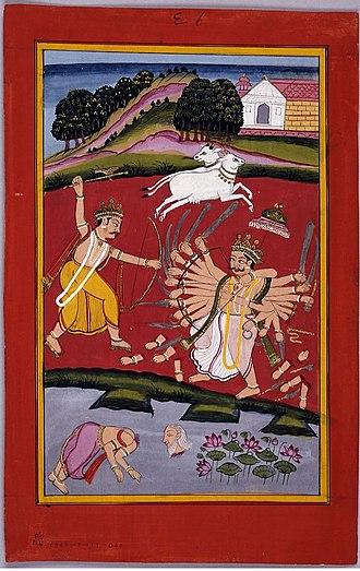 Kartavirya Arjuna - Parashurama killing King Arjuna.