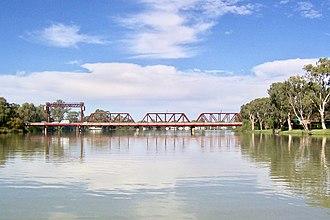 Paringa, South Australia - Paringa bridge across the Murray River