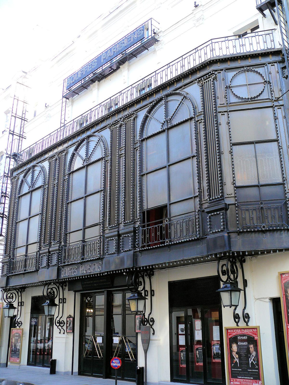 Th tre des bouffes parisiens wikipedia - Plan salle theatre porte saint martin ...