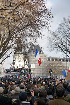 Paris Rally, 11 January 2015 - Monument à la République - 01.jpg