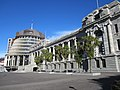 Parliament House and the Beehive June 2012.JPG