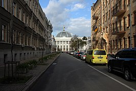 Parlement d'Ukraine.  Numéro d'identification 80-382-0099.SW.  - Rue Mykhaila Hrushevskoho, Pechersk Raion, Kiev.  - Pechersk 28 09 13 452.jpg