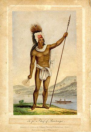 History of the Cook Islands - Pa te Pou Ariki, Chief of the Takitumu tribe, Rarotonga (c. 1837)