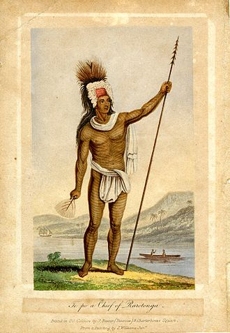 History of the Cook Islands - Pa te Pou Ariki, Chief of the Takitumu tribe, Rarotonga (c. 1837)