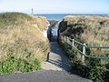 Path cut through the cliffs to the beach at Foreness Point - geograph.org.uk - 1010923.jpg