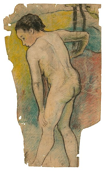 File:Paul Gauguin, 1886-87, Breton Bather, Art Institute of Chicago.jpg
