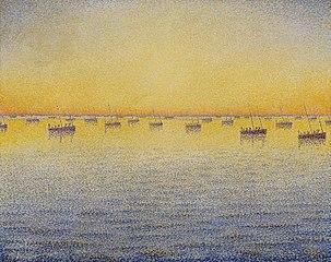 Setting Sun. Sardine Fishing. Adagio. Opus 221 from the series The Sea The Boats Concarneau