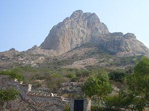 The monolith of Peña de Bernal, in Querétaro, Mexico.