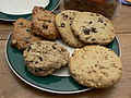 Peanut butter and chocolate chip cookies, February 2007.jpg