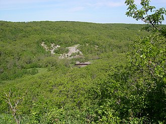 Pembina Valley Provincial Park - Pembina Valley lookout point.