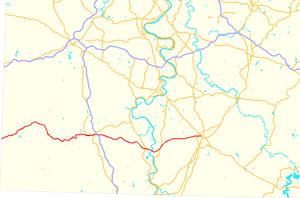 Pennsylvania Route 21 - Image: Pennsylvania Route 21 map