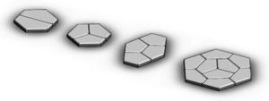 Pentagonal tiling - Pentagonal subdivisions of a hexagon