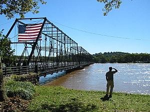 Walnut Street Bridge (Harrisburg, Pennsylvania) - The People's Bridge. The view facing City Island.