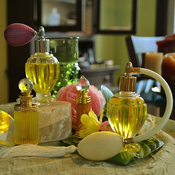 S Glass Perfume Bottles