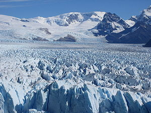 Argentina - High precipitation along with cold temperatures in the west form permanent snowfields such as the Perito Moreno Glacier