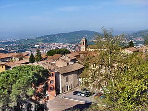 Perugia - View from Perugia, over a valley below