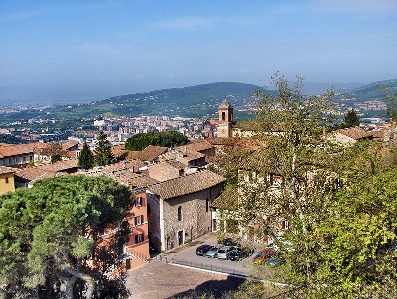 View of Perugia, Italy and the Church of San Spirito