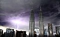 Petronas Towers during lightning storm (3324769707).jpg