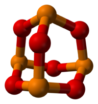 Ball-and-stick model of the P4O6 molecule
