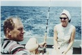 Photograph of Gerald R. Ford and Betty Ford Talking, While Mr. Ford Deep-Sea Fishes During a Vacation Trip Vacation... - NARA - 186972.tif