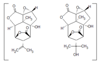 Picrotoxin, chemical (line) structure.png