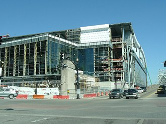 KFC Yum! Center - The arena construction site in March 2010