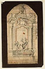 Ébauche d'un monument funéraire d'un chevalier et de son épouse