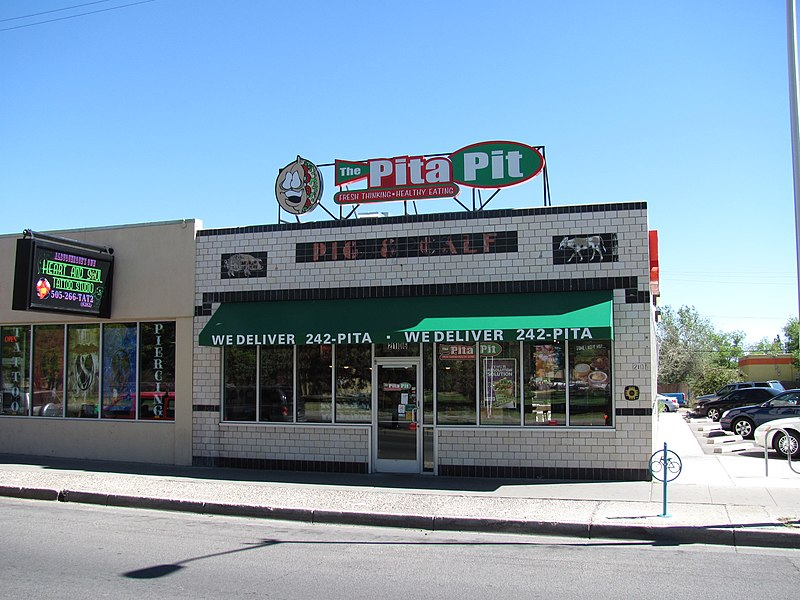 File:Pig and Calf Lunch, now The Pita Pit, Albuquerque NM.jpg