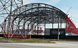 Pinewood Toronto Studios - The Mega Stage under construction in 2008