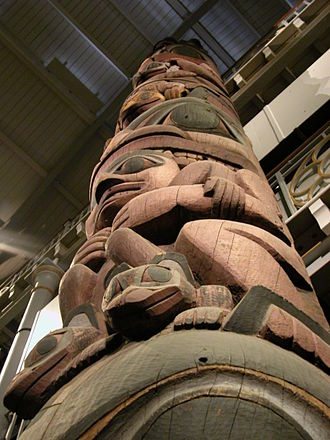 Pitt Rivers Museum - The Haida totem pole, from Star House in Massett village on Haida Gwaii (the Queen Charlotte Islands), Canada