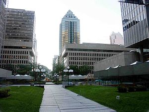 EA Montreal - The view of Place Ville-Marie 3 (on the right) - the location of EA Montreal