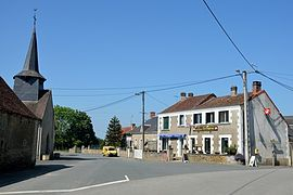 The church square in La Buxerette
