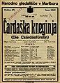 Plakat za predstavo Čardaška kneginja v Narodnem gledališču v Mariboru 11. junija 1927.jpg
