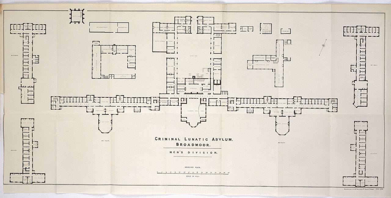 File Plan Of Men S Division Blocks At Broadmoor Criminal Asylum Wellcome L0038516 Jpg Wikimedia Commons