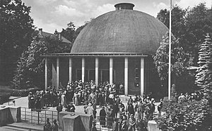 Planetarium Jena - Historic view of the Zeiss-Planetarium in Jena