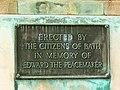 Plaque, Edward VII memorial, Parade Gardens, Bath - geograph.org.uk - 717258.jpg