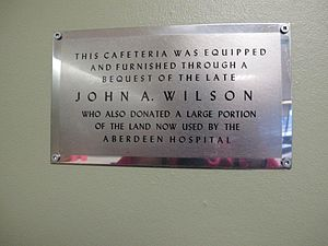 Aberdeen Regional Hospital - Plaque for John A. Wilson (sculptor), Glen Haven Manor, Aberdeen Regional Hospital, New Glasgow, Nova Scotia