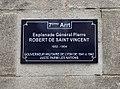 Plaque Esplanade Général Pierre Robert de Saint-Vincent.JPG