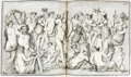 Plate110 from Wincklemann Monumenti antichi inediti 1767 Peleus waking Thetis from Roman sarcophagus ca 350 AD resized white-balanced.png